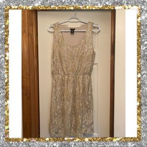✨ Rue 21 Sparkle Sequin Glittery Nude Dress ✨
